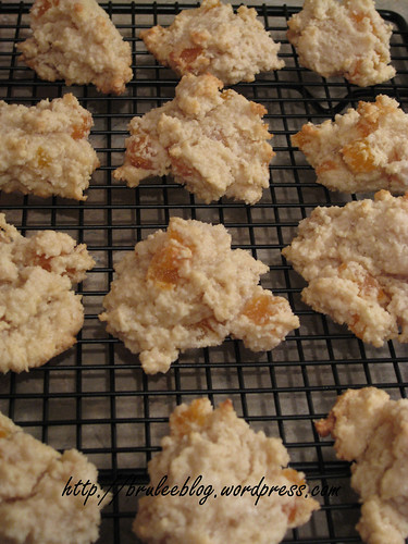 Flourless apricot almond cookies - success!