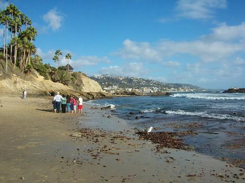 laguna beach to the south