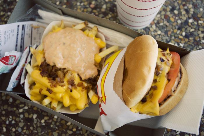 Animal Style fries & cheeseburger