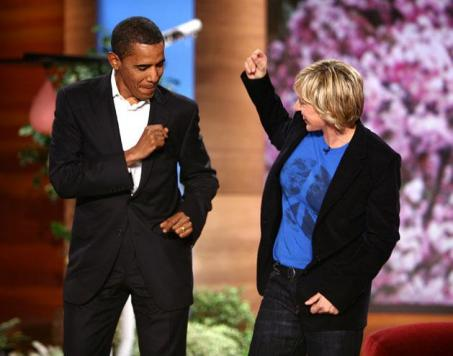 Barack and Ellen Dancing