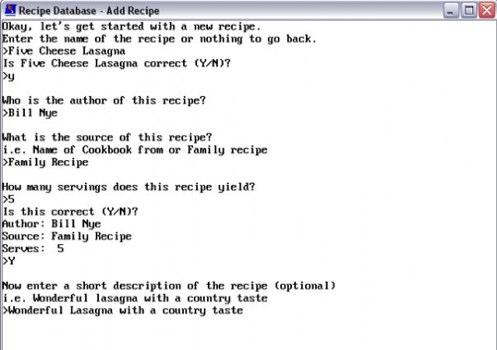 HMCsoft Recipe Database | Get HMCsoft Recipe Database at SourceForge.net