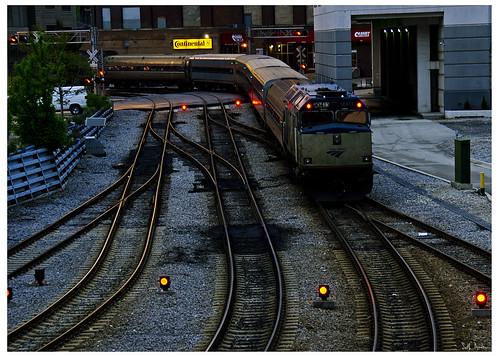 Amtrak Train 90413 in Evening Dusk
