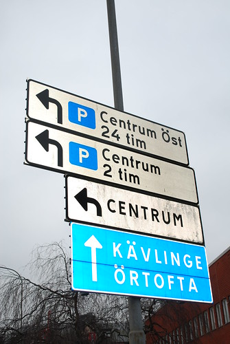 Traffic signs in Eslöv