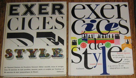 The original and reissued deluxe editions of Exercices de Style