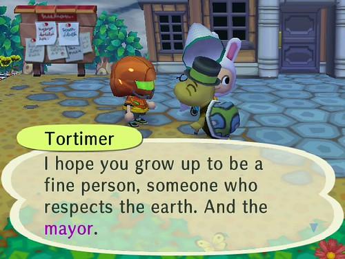 Chokomaru is NOT being very respectful to the mayor ww!