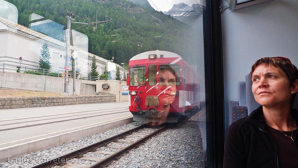Hacia Zermatt en el Matterhorn Gotthard Bahn