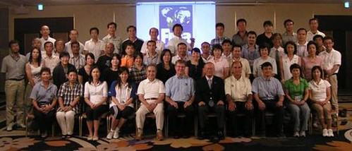810伍紹雲參加國際游聯跳水裁判學校與各國學員合照