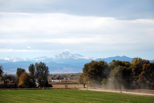 Longs Peak and Dirt Road