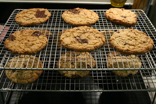 Cooling the peanut butter cookies © dan & tuesday