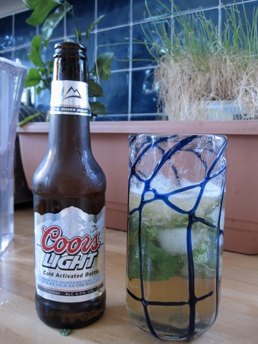 Coors light amber mojito
