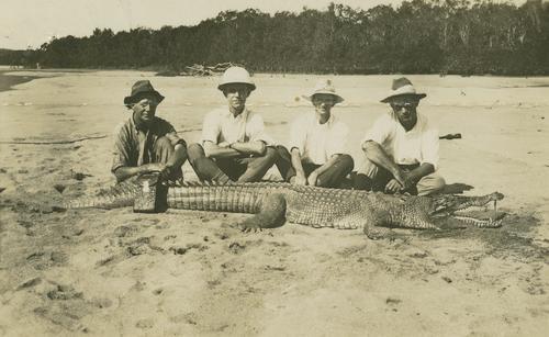 Crocodile bagged on the Herbert River