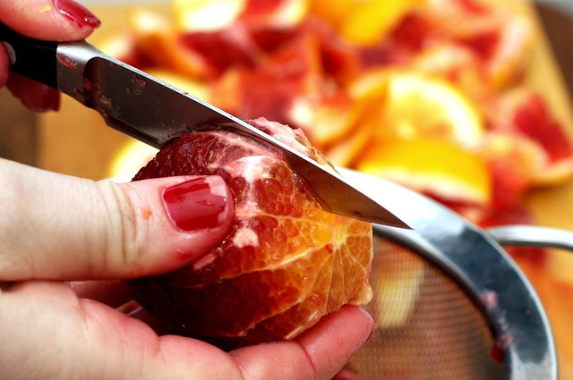 supreming blood oranges