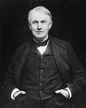 Thomas Alva Edison (Milan, Ohio, el 11 de febrero de 1847 – West Orange, Nueva Jersey, 18 de octubre de 1931)