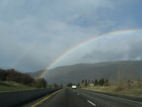double rainbow on the columbia river!