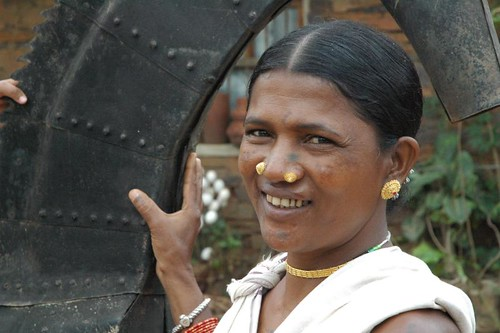 A tribal woman from Bastar, Chattisgarh, India
