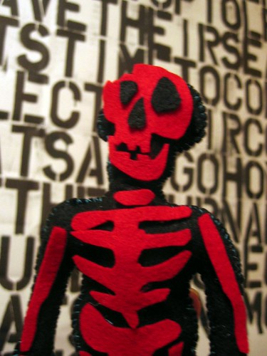 Soft skeleton I made at Etsy Labs.