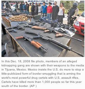 alleged Mexican kidnapping gang with weapons