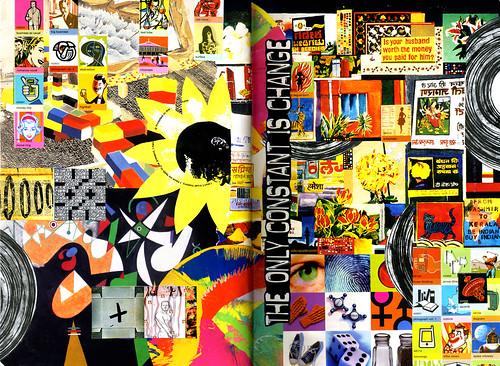 Weekly Moleskin collage - February 18, 2009