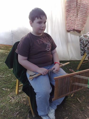 Back-strap weaving