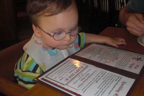 Checking out the wine list