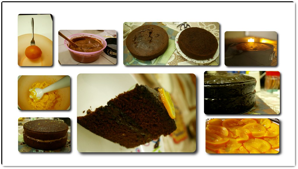 Chocaolate-orange cake.