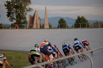 Cycling the velodrome at Marymoor Park
