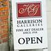 Harrison Galleries: sandwich board