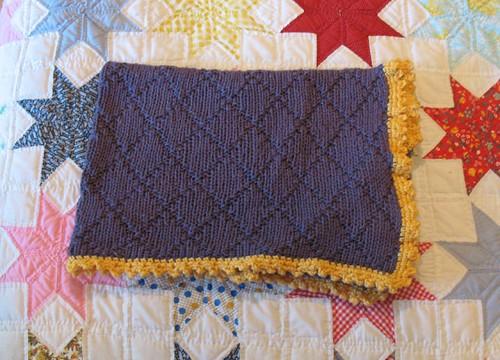 diamond hooded blanket