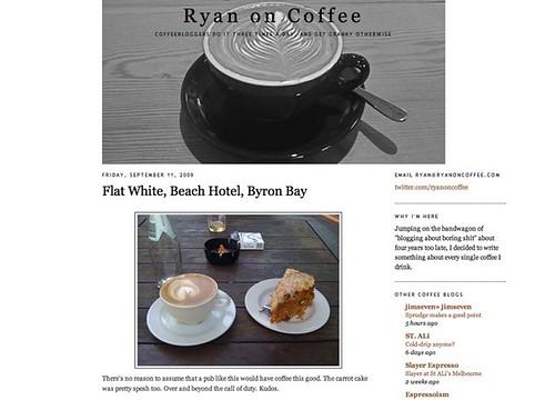 @RyanOnCoffee Flat White, Beach Hotel - Byron Bay