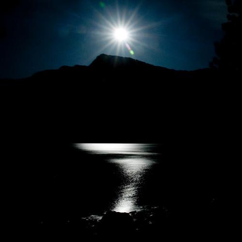Tenaya Lake at Moonlight