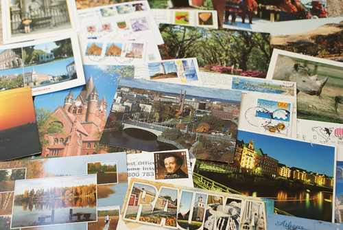 Lots of Postcrossing postcards