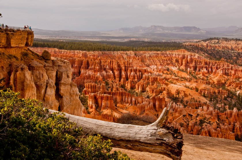 Our first view of Bryce Canyon
