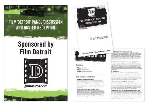 film detroit welcome sign & event program