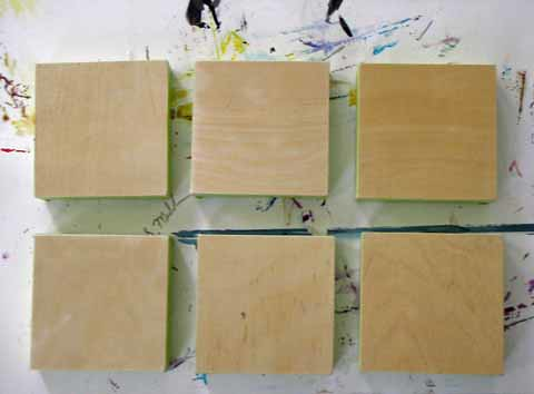 blank 4x4 cradled panels