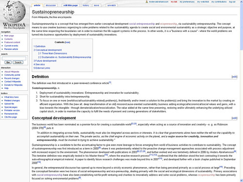 Wikipedia article - Screenshot