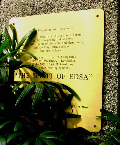 Taken from RCBC Makati, I guess there are still some who believes in the spirit of EDSA. To this day, its promise remains to be a mere spirit.
