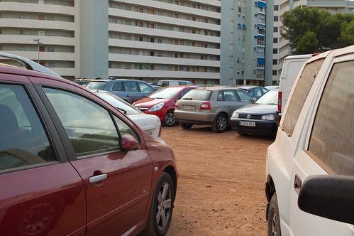 Parking (aparentemente) caótico