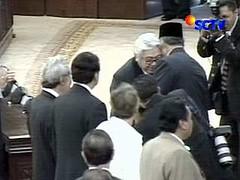 SBY dan Taufiq Kiemas cium pipi