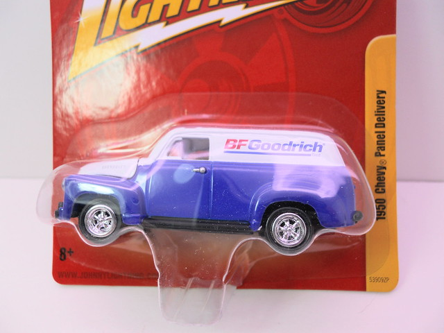 johnny lightning 1950 chevy panel delivery bf goodrich (2)