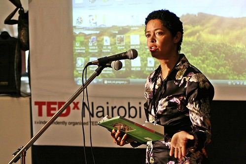 Paula Kahumbu speaking at TEDxNairobi