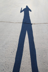 shadow looks like man is 10 feet tall