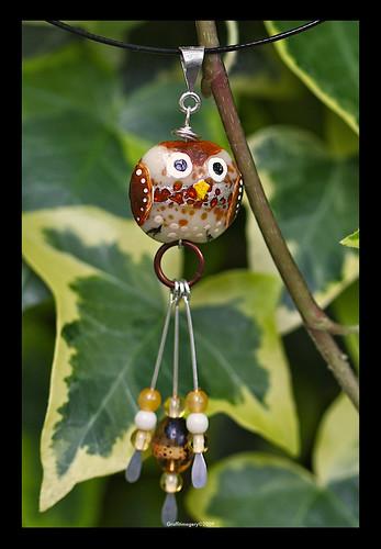 MIDI BINDI BIRD pendant by Sandra Miller ©2009
