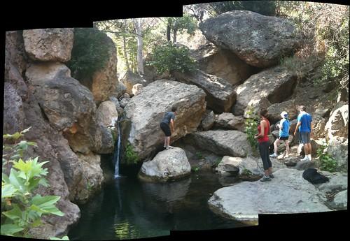 We climbed rocks