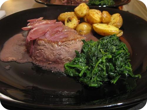 Seared Beef Tenderloin with Cabernet Sauce