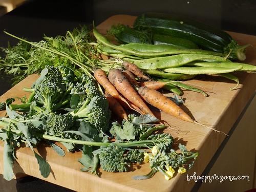 Home grown veg