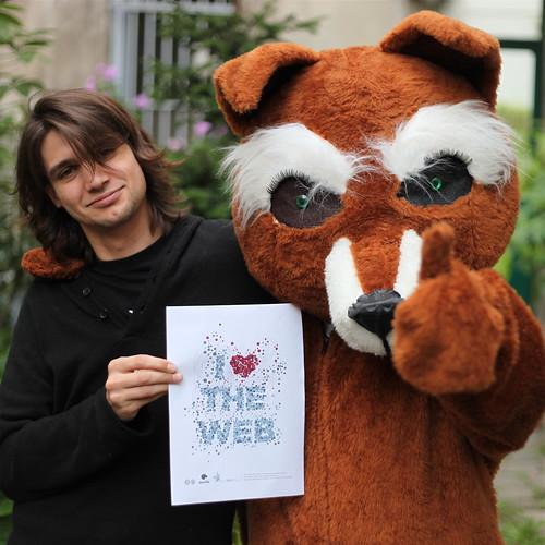 Finally: seems like this fox love the web.