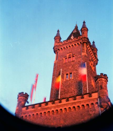 Dillenburgs landmark and symbol through a pinhole camera