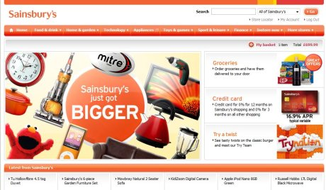 Sainsbury's launches its non-food range online | Econsultancy