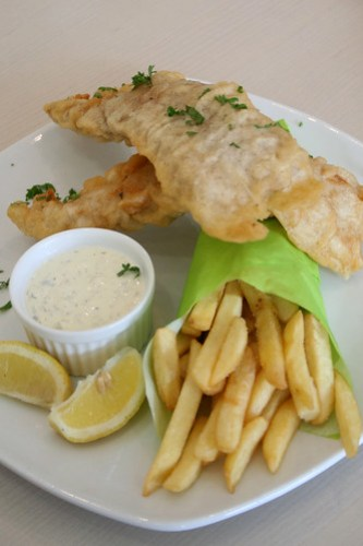 Beer Battered Fish and Chips at Unit 8 Cafe