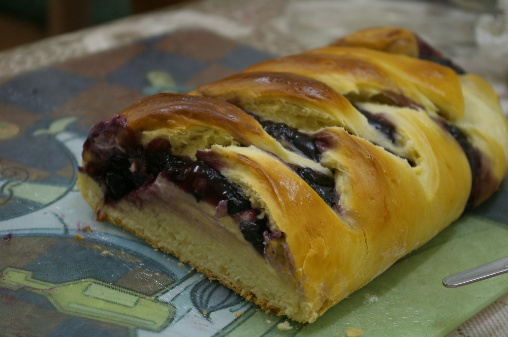 Blueberry braid.